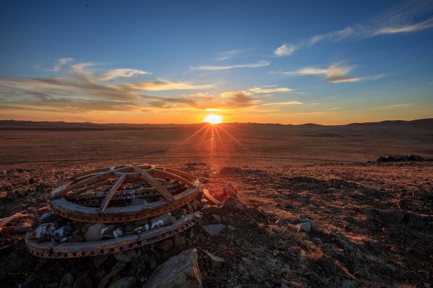 sunset near Karakorum, Mongolia