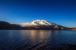 Muztagh Ata and the Karakul Lake, Xinjiang