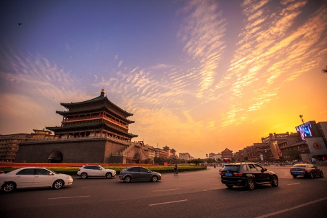 Xi'an under the sunset colours