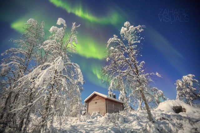 when the fullmoon is shining and the auroras are dancing, Finnish Lapland turned into a fantasy land