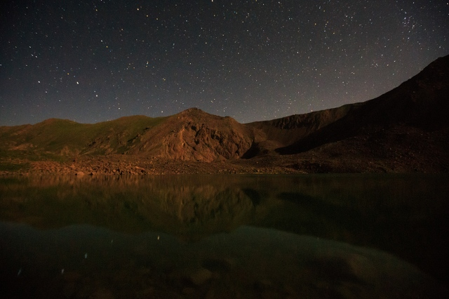 beautiful nightscape of Kol-Ukok